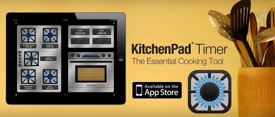 KitchenPad Timer App for Apple iPhone and iPad